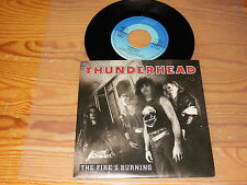 THUNDERHEAD - THE FIRE'S BURNING / GERMANY VINYL 7'' SINGLE MINT- 1989