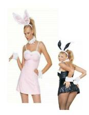 4 pc Plush Trimmed Sexy Bunny Pink Party Dress  XL Adult Costume N30