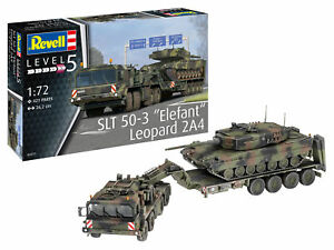 Slt 50-3 Elefant % 2B Leopard 2A4 Tanque 1:72 Plástico Modelo Kit 03311 Revell