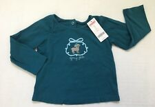 NWT Gymboree My Best Friend 3 3T Teal Fancy Girl Ribbon Trim Embroidered Dog Tee