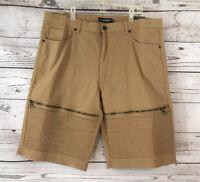"NWT Reset Premium Size 44 Khaki Camel Shorts Long 13"" Inseam MSRP $62 Mens"