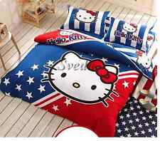 Kids Hello Kitty Bedding Duvet Quilt Cover for twin bed