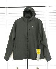 NWT Under Armour Mens Storm Bacca Softershell Hooded Jacket Grey 2XL 1259546