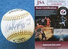 JSA CERTIFIED WADE BOGGS RED SOX YANKEES SIGNED RAWLINGS GOLD GLOVE BASEBALL