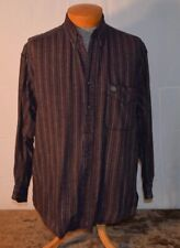 IZOD MENS BUTTON DOWN LIGHT OLIVE RED AND WHITE STRIPE SIZE L FREE SHIPPING