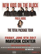 NEW KIDS ON THE BLOCK / PAULA ABDUL 2017 SALT LAKE CITY CONCERT TOUR POSTER- Pop