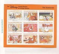 GRENADA GRENADINES, Disney Aristocats, Sc# 991, MNH 1988 Sheet of 9