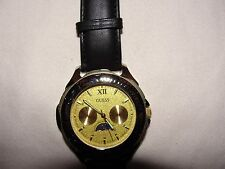 Guess Watch with a leather wrist band for men ; new without tags