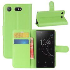 Tapa Protección Verde para Sony Xperia XZ1 Compact/Mini potada del libro