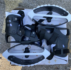 💥BOUNCE BOOTS Black/White Boosters Kangaroo Jumping Shoes MoonNew Open Box