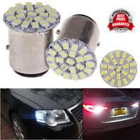 4X 1157 22SMD 1206 White LED 12V BAY15D Tail Stop Brake Light Bulbs 7528 2057