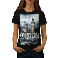 Wellcoda Tower Urban London Womens T-shirt, London Casual Design Printed Tee