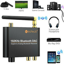 192khz Digital to Analog Audio Converter With Bluetooth Receiver RCA L/r Adapter