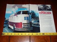 FUTURLINER GMC GENERAL MOTORS BOB VALDEZ - ORIGINAL 2002 ARTICLE
