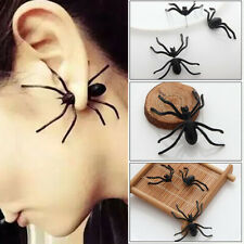 Halloween Decoration 1Piece 3D Creepy Black Spider Ear Stud Earring for Haloween