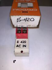 Two Crydom S-420 Solid State Relay