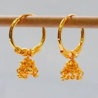 Kapa 22 ct gold plated Earring hoop Indian Asian ethnic Fashion jewelry h28