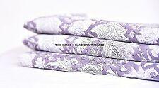 5 Yard Indian Handmade Natural Block Printed Sanganeri Cotton Printed Fabric