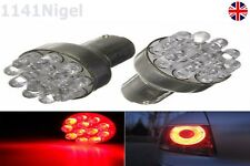 2 x 1157 BAY15D Globes 12 LED SMD Car Brake Stop Light Lamp Bulb RED UK SELLER
