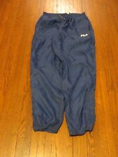Men's VTG 90's Fila Blue Windbreaker Pants sz M