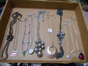 MIXED LOT OF 17 PENDANT NECKLACES,FEW SIGNED