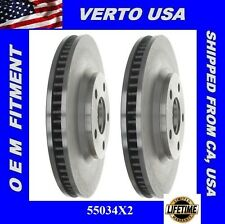 Set Of 2 Front  Brake Rotors-  Verto USA  55034X2 Limited Life Time Warranty