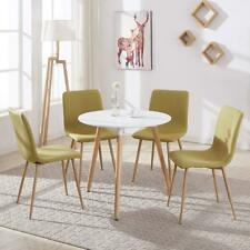 EGGREE Modern Round Top Dinning Table with Solid Wood Legs Scandinavian style
