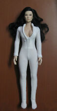 "1:6 Scale Woman White Slim tight stretch leotard Clothing Suit F 12"" Female Body"