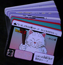 DRAGON BALL Z DBZ HONDAN PART 13 REGULAR CARD SET OF 36 CARTES JAPAN 1992