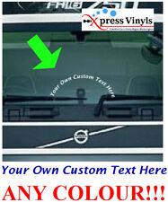 DAF Volvo Scania Custom text truck windscreen decal. Custom sticker ANY TEXT