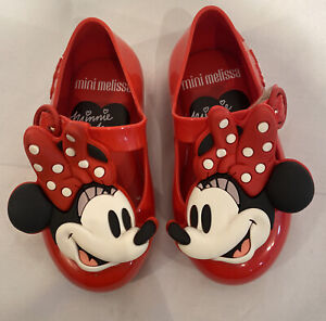 Mini Melissa Sweet Love Happy  Red  Minnie Mouse Toddler Girl Size 6 F8
