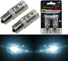 LED Light 50W 1156 White 6000K Two Bulbs Rear Turn Signal Replacement Stock JDM