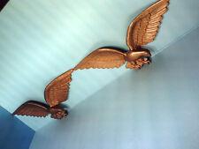 "2 EA. AMERICAN EAGLES CAST METAL HOUSE WALL / WALL 23""x8 **VERY NICE!**"