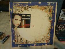 """the cure""""just like heaven""""single7""""fr.fiction:8871047de 1987contour bleu +sticker"""