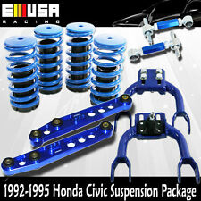 Civic 92-95 Scaled Lowering Coilover Springs+F&RCamber+Rear Lower Control BLUE