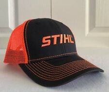 Stihl Neon Orange Mesh Back Hat / Cap