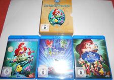 Disney Blu Ray Box Arielle die Meerjungfrau 1-3 wie alles begann Original 1989