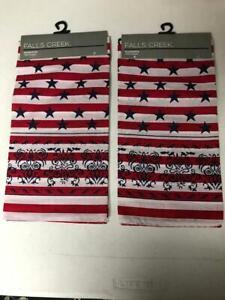 Men's Falls Creek 2 Kerchief Bandana's Americana Handkerchiefs