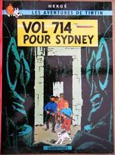 HERGE LES AVENTURES DE TINTIN VOL 714 POUR SYDNEY DÉPÔT LÉGAL 1969