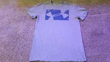 Under Armour Charged Graphic Logo T-Shirt Mens Size S Loose Fit Gray Blue
