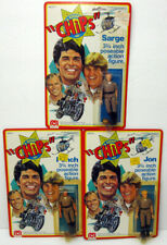 """RARE! MEGO CHIPS 1979 ALL 3 POSEABLE 3-3/4"""" TV ACTION FIGURES PONCH JON SARGE SS"""
