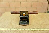 Vintage Stanley No.12 1/2 Veneer Scraper Plane,Rosewood Sole, SW  Blade,