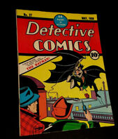 Batman Detective Comics # 27 1939 Over-sized Golden Age Replica  ☆☆☆☆