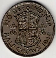 1948 GREAT BRITAIN 1/2 HALF CROWN GEORGE VI  NICE WORLD COIN