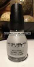 SINFUL COLORS Professional #1179 TANTALIZE Nail Polish/Enamel SILVER SHIMMER