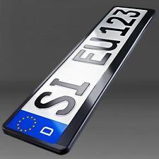 2 x Kennzeichenhalter schwarz Nummernschildhalter universal Kennzeichenhalterung