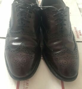 Dexter LEATHER OXFORD LACE UP SHOES SIZE 10.5 WW Wingtip  509492