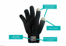 Bluetooth Gloves Built in Microphone and Speaker Novelty Gift Mobile Mens Black