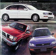 1996 Toyota Sales Catalog Tacoma T100 Land Cruiser Rav4 Celica Supra Camry Paseo
