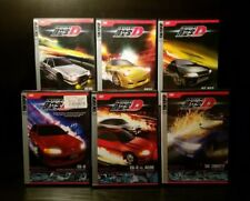 Lot of 6x Initial D - Battle 01-05 + #14 Anime DVDs + Unopened Trading Card Pack
